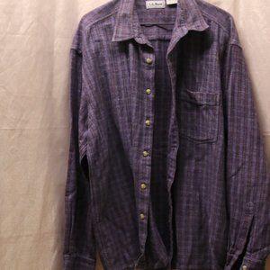 L.L. Bean long sleeved button down shirt